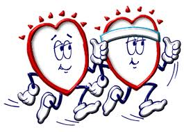 healthy heart jogging cartoon
