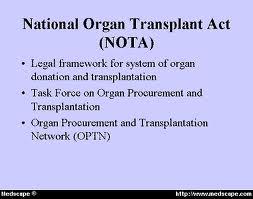 Legalizing organ sales essay