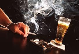 booze and smokes