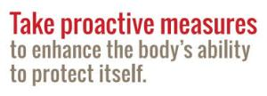take proactive measures